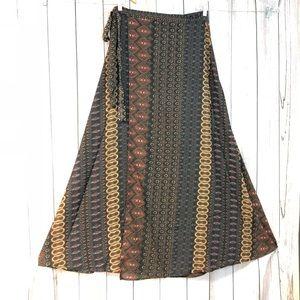 Elan maxi wrap skirt S
